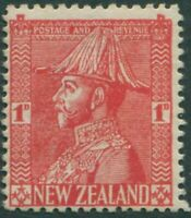 New Zealand 1926 SG471 1d rose-carmine KGV as Field-Marshall thin paper MNH