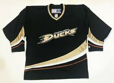 Vintage CCM NHL Anaheim Ducks Hockey Jersey Black Adult L Canada Sewn