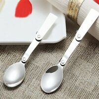 Portable Stainless Steel Folding Spoon Outdoor Camping Hiking Cookout Picnic`