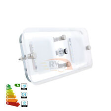 12V Square Double LED Ceiling Light Programmed Switch Campervan RV Interior Lamp