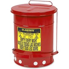 Waste Can Oily Chemical Garbage Disposal Bin Safety Mechanic Shop Storage 6-Gal