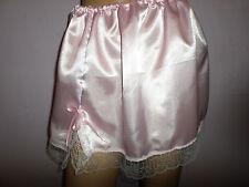 "En satin rose dentelle blanche mini jupon 13"" long taille 30-46"