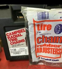 NEW snow tire chains +ADJUSTERS P205/65-16 P205/70-16 P215/60-16 P215/65-16