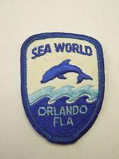Vintage Sea World Orlando Florida Tourism Souvenir Embroidered Iron On Patch