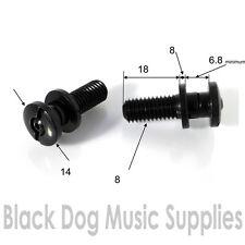 Paire de verrouillage inserts pour cordier/stop bar guitare pont postes en noir
