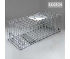 New Large Humane Animal Trap Cage Possum Rabbit Fox Collapsible Construction