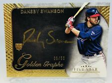 2017 TOPPS FIVE STAR DANSBY SWANSON ATLANTA BRAVES GOLDEN GRAPHS AUTO RC /50