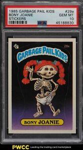 1985 Topps Garbage Pail Kids Stickers Bony Joanie #29a PSA 10 GEM MINT