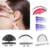36Pcs /Set Acrylic Ear Gauge Taper Tunnels Plugs Starter Expander Stretching Kit