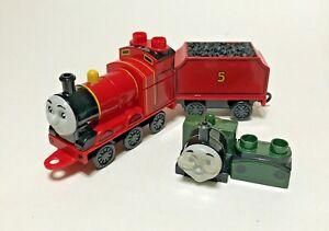 Mega Bloks Thomas the Train Lot James Complete With Coal Tender; Whiff Pieces
