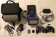 Nintendo GameCube Purple Console Complete w/ Travel Screen, Case & 3 Zelda games