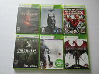 Lot of 6 Xbox 360 Games Diablo 3 Batman Arkham Origins Dead Space 3 CoD 4