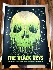 Black Keys Poster 2019 Atlanta Ga Melt Foil Variant Screen Print Signed Ap #'D