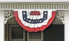 PATRIOTIC NYLON BUNTING American Holiday Celebration Red White Blue