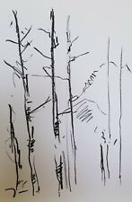 "JOSE TRUJILLO - OIL PASTELS Painting ABSTRACT Minimalism 13X19"" ORIGINAL ART"