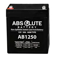 NEW NEW AB1250 12V 5AH SLA Replacement Battery for Bright Way Group BW 1250