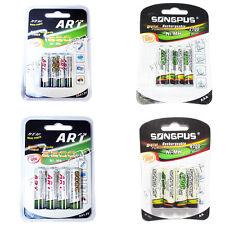 4 PILE RICARICABILI AA AAA 1250 2700 2800 4700 MAH STILO MINI 1,2V Batterie