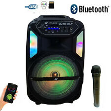 CASSA BLUETOOTH RICARICABILE MP3 USB TFT SD MICROFONO 2000W DiSPlAY LED KARAOKE