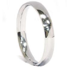 3mm Palladium Plain High Polished Wedding Band Ring