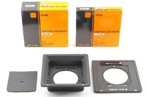 🔸UNUSED in Box🔸Toyo View Linhof  Adapter 1051 + Recessed lens board 1056 Japan