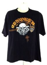 96 NORTH NO.109665-96 Skull High Quality Men's T-shirt Size XL Embroidery Black