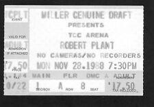 1988 Robert Plant concert ticket stub Tcc Tucson Az Now and Zen