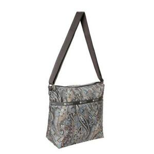 LeSportsac Classic Collection Small Cleo Crossbody Hobo in Paisley Swirl NWT