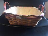 2005 Silver Bells /& 2006 Nature/'s Garland Longaberger Pewter Basket Ornaments