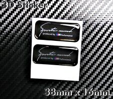 2X BMW Sport Mind produced by M Performance 3D Aufkleber  Logo Sticker
