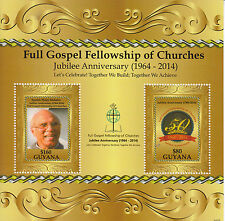 Guyana 2014 MNH Full Gospel Fellowship of Churches Jubilee Anniv 2v S/S Mohabir