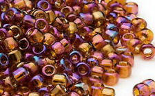 200 Transparent Rainbow Root Beer # 6 Matsuno Glass Seed Beads
