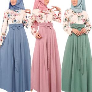Damen Abaya Muslim Kleid Islamische Cocktailkleid Lange Maxikleid  Kleidung Aben