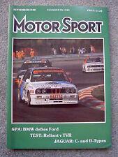 Motor Sport (Sep 1988) TVR S v Reliant Scimitar SS1, Ford RS200, Jaguar D-Type
