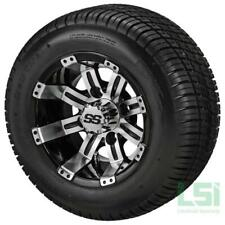 (4) Golf Cart 205/50-10 Tire on a 10x7 Blk/Machined  Tempest Wheel  Free Freight