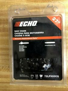 (3 PACK) 72LPX93CQ OEM ECHO 27 in Chisel Chainsaw Chain  CS-600p CS-680p CS-800P