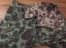 Vintage WWII USMC Marine Crops P44 Frogskin Camo Butt Pocket HBT Trousers Pants.