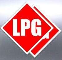 2 30mm LPG red Class white Sign vinyl sticker number Hazardous Material 1 plate