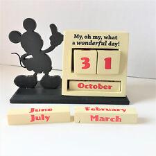 Disney Hallmark Mickey Mouse Desk Calendar My Oh My What a Wonderful Day Wood