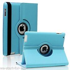 ★360°Schutz Hülle iPad 4 & 3 & 2 Folie Kunstleder Tasche Smart Cover Case Blau★