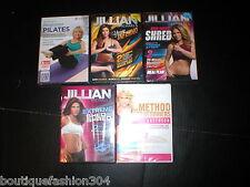 New Dvd 5 Lot Yoga Pilates Shred Method Jillian Michaels Tracy Anderson Winsor