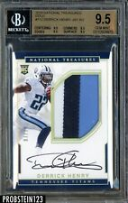 2016 National Treasures Gold Derrick Henry RC Patch AUTO 7/10 BGS 9.5