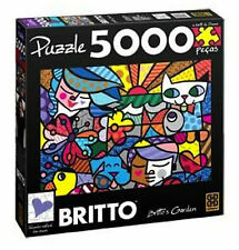 ROMERO BRITTO  GARDEN PUZZLE 5000 PIECES (SIZE: 4.5 FT x 3 FT)