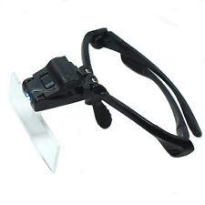 Headband Magnifier Glass Lighted Optivisor with 5 Lens for Hobby Repair Reading