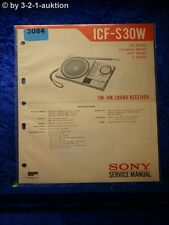 Sony Service Manual ICF S30W 2 Band Receiver (#3084)