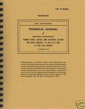 TM9 1808A WWII Dodge .75 & 1.5 Ton Engine Maintenance Manual ~ Reprnt