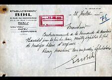 """PARIS (XV°) EPICERIE """"Ets BIHL"""" en 1935"""