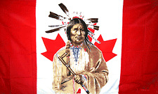 New listing Canadian Indian Man Flag 3x5 Polyester Canada