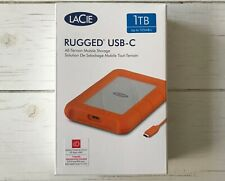 LaCie RUGGED USB-C Portable 1TB External Hard Drive + USB 3.0 cable NEW IN BOX