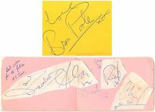 Brian Poole and The Tremeloes signed autograph album pages 1960s English band
