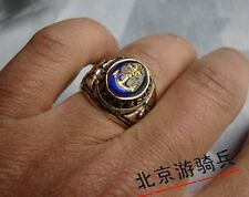 U.S USN NAVY MILITARY STYLE METAL RETRO HONOR RING SIZE 10